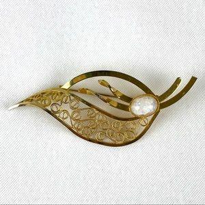 Vintage Amsel Gold Filled Brooch